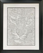 Guillaume Azoulay - Original Pen And Ink - Eand039tude Leopard 2001 - Handwritten Note