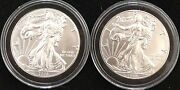 2016 And 2019 Silver Eagles, Both From Newly Opened Rolls Of 20, No Spotting