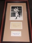 Rudy York Detroit Tigers Signed Autograph Framed With Photo Museum Piece