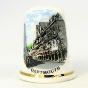 Collectable Bone China Thimble And039dartmouthand039 Devon