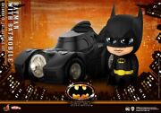 Hot Toys Cosbaby Cosb710 Batman And Batmobile Mini Pvc Action Figure Doll Toy