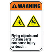 Flying Objects And Rotating Parts Can Cause Injury Or Death Ansi Warning