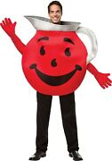 Kool-aid Adult Halloween Character Costume Red Smiling Pitcher Arms-long Gloves