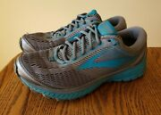 Women's Brooks Ghost 10 Running Shoes Sneakers Size 11 D Wide Blue Gray Worn