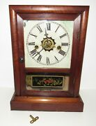 Antique Waterbury Cottage Extra 30-hour Clock With Alarm, Time/bell Strike