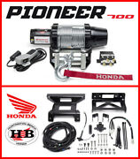 Honda Oem New And Improved Warn Vrx Winch 2017-2021 Pioneer 700 Includes Mount Kit
