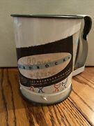 Vintage Flour Sifter Androck Made Usa Ducks Geese Kitsch Blue Red Kitchenw/label