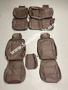 Chevrolet Chevy Silverado Lt Wt Leather Seat Covers Coffee Brown Perforated