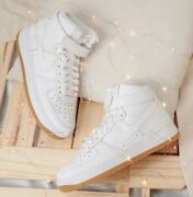 New Nike Air Force 1 High Gs Shoes Athletic Street Casual All Sizes White-gum 🔥