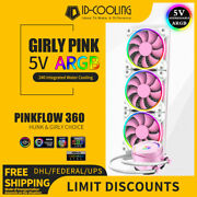 Liquid Cpu Cooler Pink 360mm Rgb Addressable All-in-one Water Cooling Radiator