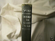Here Is Your War Ernie Pyle 1945 Wwii Story Gi Joe Antique Book