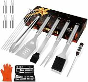 Grilling Accessories 17pcs Grill Tools Set Bbq Tool Kit Stainless Steel Grill