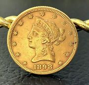 Us Ms Liberty Head 10 Gold Coin 1898