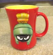 Marvin The Martian Red 3d Coffee Mug Looney Tunes 1999