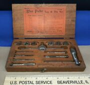 Vintage Blue Point Tools Snap-on Tap And Die Set W/ Wooden Box
