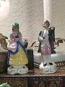 Antique Find Porcelain Set Of 2 Colonial Figurines Man And Woman Made In Japan