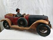 1913 Model T Ford Speedster Vintage Rare Wooden Replica Toy 27 Long Model A