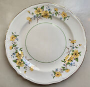 7 - Semi Vitreous Yellow Floral Edwin M. Knowles China Co. Usa Dinner Plates 10andrdquo