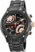 Timex Tx Menand039s 650 Flyback Chronograph Dual Time Black Ion-plated 47mm Watch