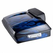 Advan Vivid Black Inferno Airbrushed Chopped Tour Pack Luggage For 1997+ Harley