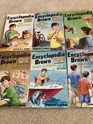 6 Encyclopedia Brown Chapter Books 1-3, 5,6,10