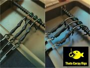 6 Black Ronnie Rigs And Turbo German Rig Combo / Amnesia Invisible Hooklink / Carp