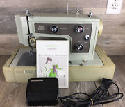 Vintage Sears Roebuck Kenmore Sewing Machine Case Manual And Foot Pedal 148.14221