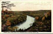 Postcard French Broad River Near The Tennessee North Carolina State Line