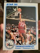 🔥🔥1985 Star Team Supers 5x7 Charles Barkley Rookie Year Issue Mint Jumbo Rc 8