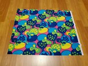 Awesome Rare Vintage Mid Century Retro 70s 60s Psychedelic Bright Blob Fabric
