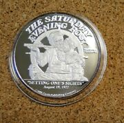 Setting Norman Rockwell 1988 Le01235 2 Ounce Troy .999 Fine Silver Round