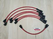 Chevy 216 235 7mm Cloth Covered Spark Plug Wire Set Vintage Wires Inline 6 Red W