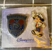Pin 27997 Dlr Cast Exclusive - Security Badge And Officer Mickey Pin Set