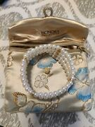Honora F.w. Cultured Pearl And Gold Bracelet