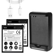 2x 5250mah Battery + External Charger For Samsung Galaxy S Iii S3 S960c I9300 Us