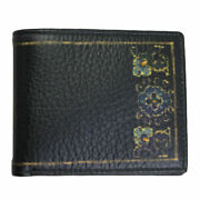 Brand New Etro Mens Black Leather Bifold Wallet 1f557