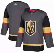 Nhl Vegas Golden Knights Authentic Adidas Home Gray Blank Jersey - Size 50