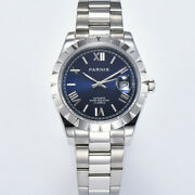 Parnis 39.5mm Roman Numeral Dial Miyota 8215 Sapphire Glass Automatic Mens Watch