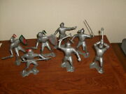 7 Vintage Marx 5 Or 6 Inch Knights