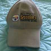 Official Nfl Product Pittsburgh Steelers 1000th Game Baseball Cap Golf Hat New