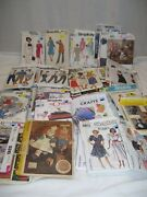 Lot Of 90 Mixed Vintage Sewing Patterns 1960s - 2000s Mccalls Simplicity Vogue