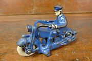 1930s A C Williams 5 Cast Iron Police Fat Cop Motorcycle Harley Davidson Indian
