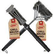 Bbq Grill Brush And Scraper Set Accessories Grilling Kit Griddle Barbecue Clean