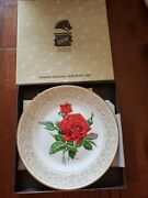 Edward Marshall Boehm 8 Rose Collection Plates With Boxes And Inserts