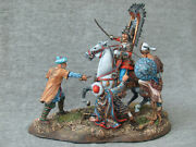 Turkish Attack On The Winged Polish Hussar. Elite Tin Soldiers Scale 1/32 54 Mm