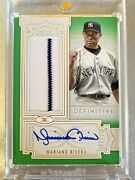 2020 Topps Definitive Mariano Rivera Auto Patch /10 New York Yankees