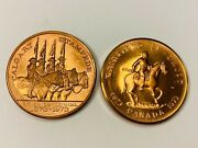 1973 Royal Canadian Mounted Police And Calgary Stampede Copper Canada Medals