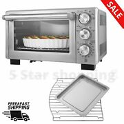 Stainless Steel Countertop Convection Oven Toaster Silver Home Hotle Kitchen