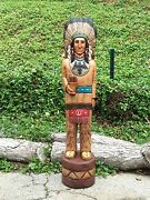 John Gallagher Carved Wooden Cigar Store Indian 4 Ft.tall Statue Thunderbird