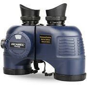 Uscamel 10x50 Binoculars Marine Compass For Adults Hunting Navy Used